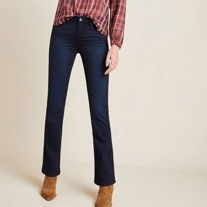 Paige Manhattan Dark Wash High Rise Bootcut Jeans